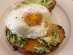 Smashed Avocado, Feta, Capers with a Fried Egg