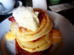 Buttermilk Pancakes with Coconut, Rhubarb, Lemon Curd & Whipped Mascarpone